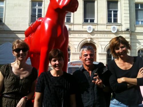 cafés littéraires , Montélimar, Lucille Bordes, Sandrine thévenet, Paola Pigani,Lionel Salaun